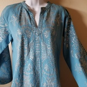 Used, VTG 70s grecian caftan kaftan maxi dress for sale
